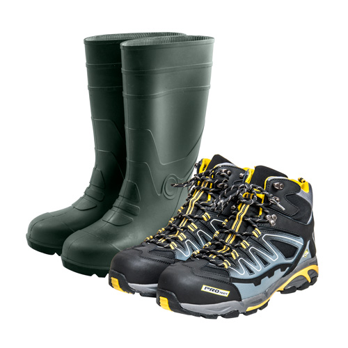 Protective footwear and clothing