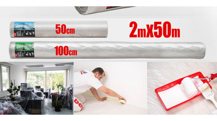 Protection drop sheet roll 2 x 50m