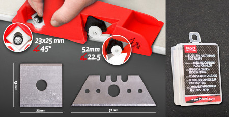 Blades for plasterboard edge planer