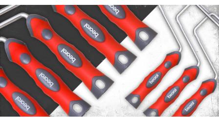 Two-component ergonomic paint roller handle