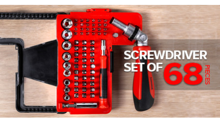 Screwdriver set of 68 pieces