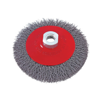 Circular brush, steel wire ø125mm, for angle grinder