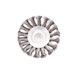 Circular brush, steel twisted wire ø100mm, for angle grinder