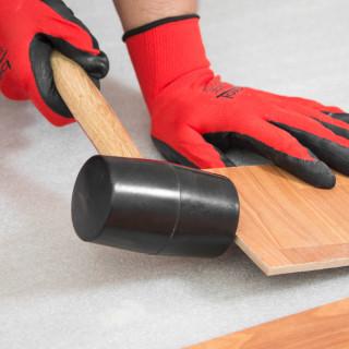 Rubber hammer, wood handle 500gr/16oz