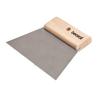 Scraper short wooden handle 180mm without teeth