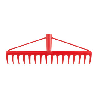 Reinforced garden rake 16 teeth