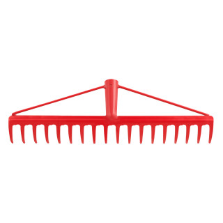 Reinforced garden rake 18 teeth
