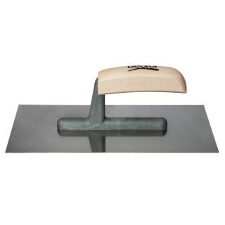 Plastering trowel, stainless steel, wooden handle 280x130mm