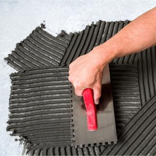 Plastering trowel, ABS handle, 8x8mm
