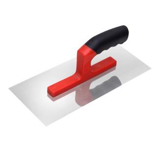 Plastering trowel, stainless steel, rubber handle 280x130mm