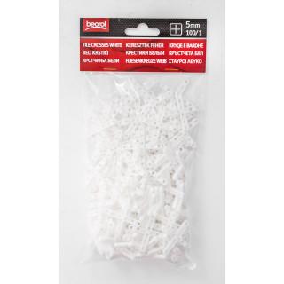 Tile cross white 5mm - 100/1