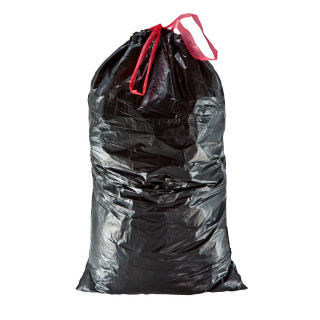Garbage bags with tape, 110Lit, 8pcs