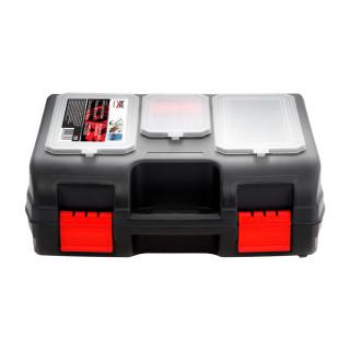Power tool box with organizer