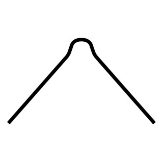 Aluminum corner profile 2.5m