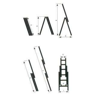 Combination aluminium ladders, 7 steps