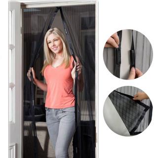 Magnetic door curtain, black