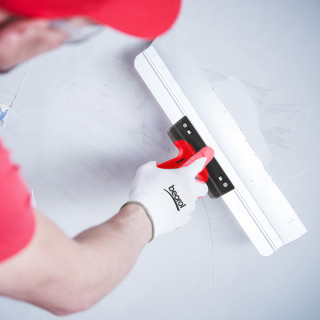 Scraper rubber-plastic handle with hole, steel 60cm