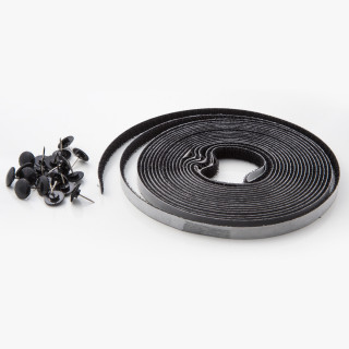 Selfadhesive insect net 130x150, black