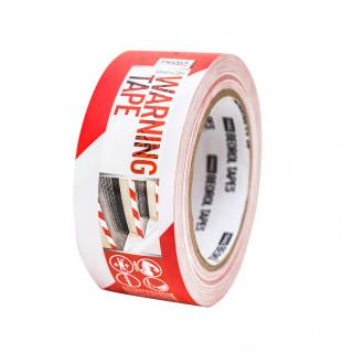 Warning tape 50mm x 33m, red/white