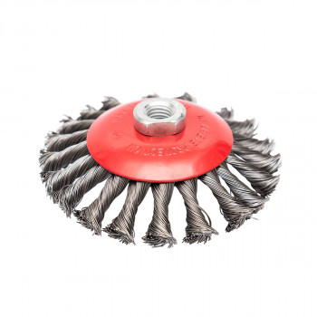 Circular brush, steel twisted wire ø125mm, for angle grinder