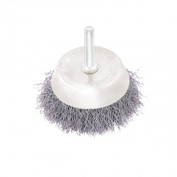 Circular cup brush, steel wire ø65mm, for drill