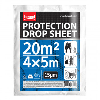 Protection drop sheet 4x5m / (13,1x16,4 ft),15mic