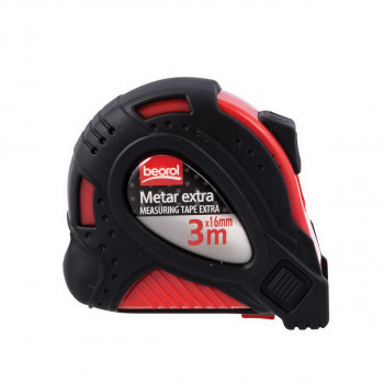 Steel measuring tape 10ft/ 3m, red body/black cover