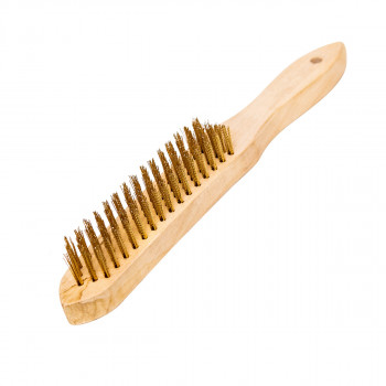 Brass coated 5 rows brush
