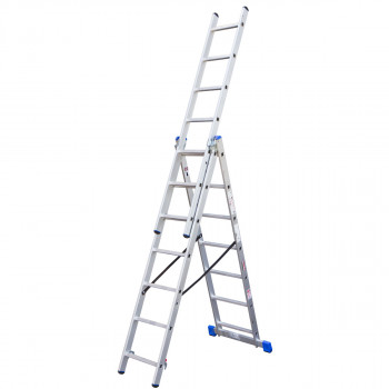 Combination aluminium ladders, 7 steps