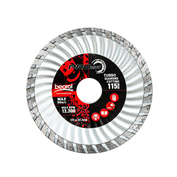 Turbo diamond cutting disc, ø115mm