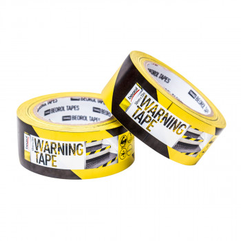 Warning tape 50mm x 33m, yellow/black