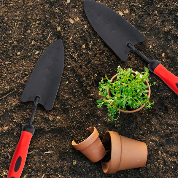 Garden powder coated steel trowel - narrow