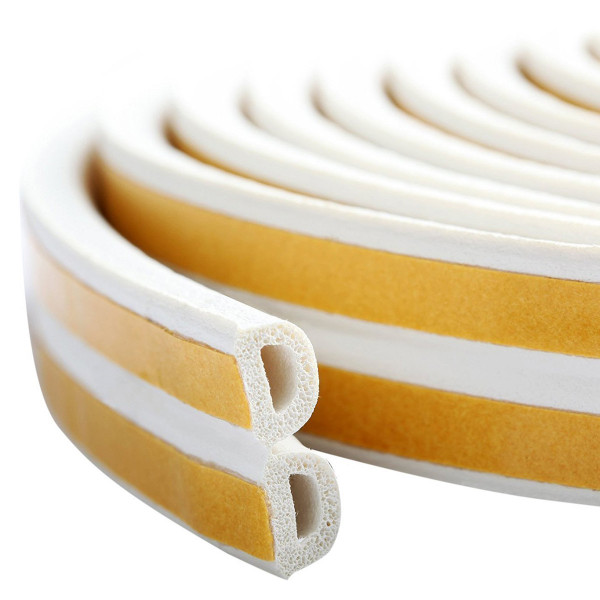 Seal strip D-profile, white 2x50m