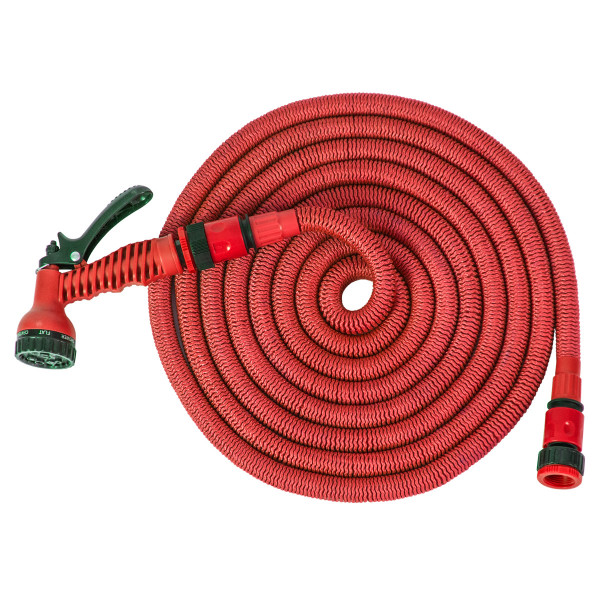 Expandable hose 15m, red