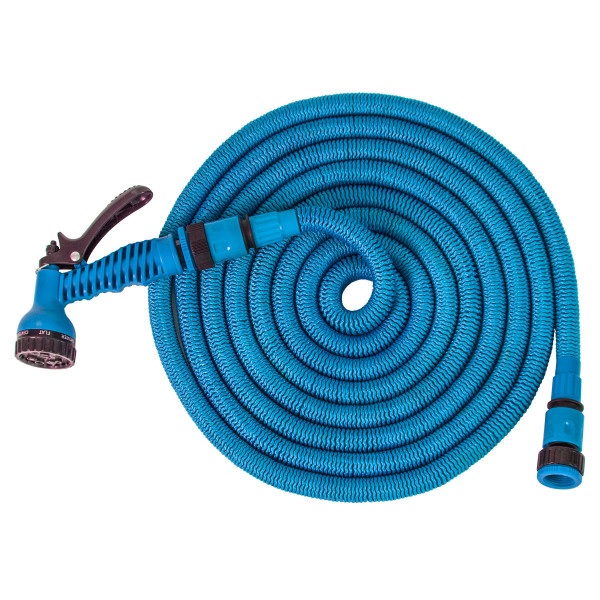 Expandable hose 15m, blue