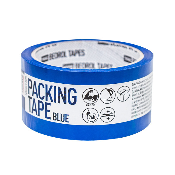 Packing tape, 50mm x 50m, blue