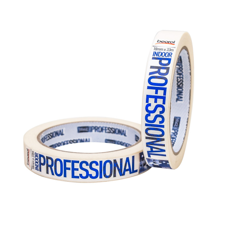 Masking tape Indoor Professional, 18mm x 33m, 70ᵒC