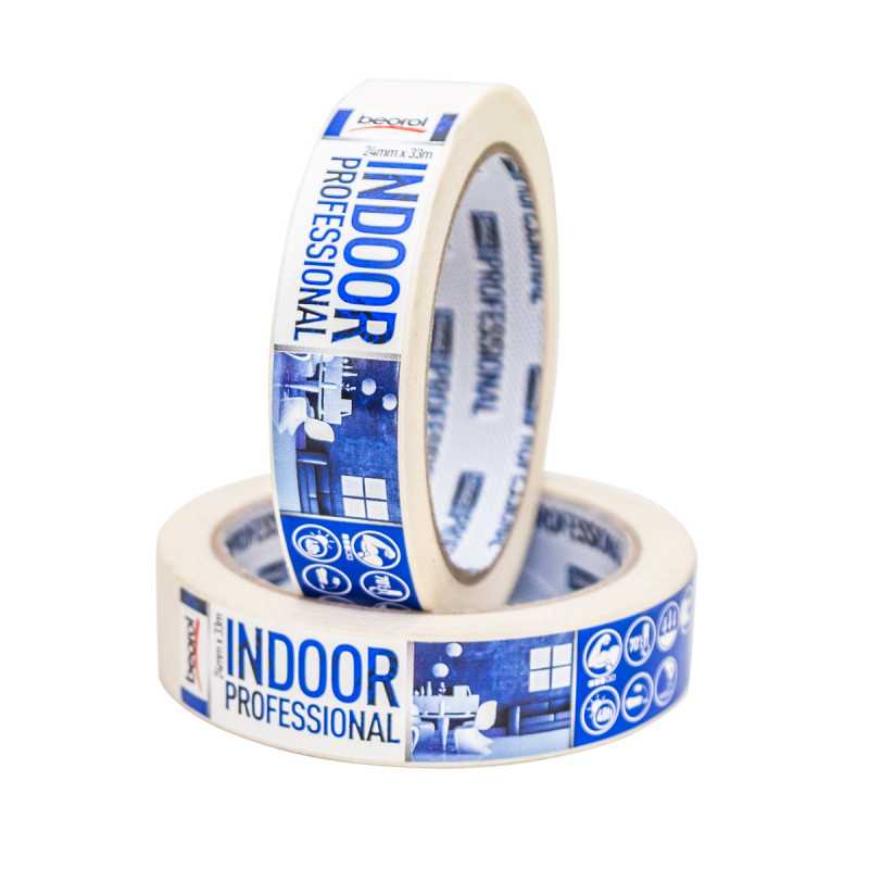 Masking tape Indoor Professional, 24mm x 33m, 70ᵒC