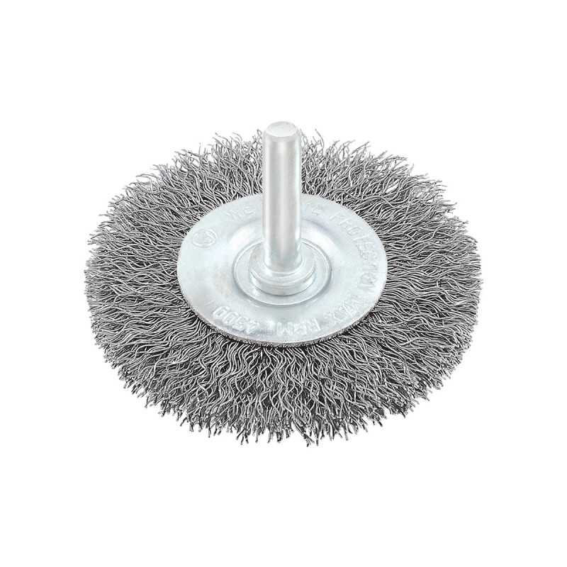 Circular brush, steel wire ø100mm, for drill