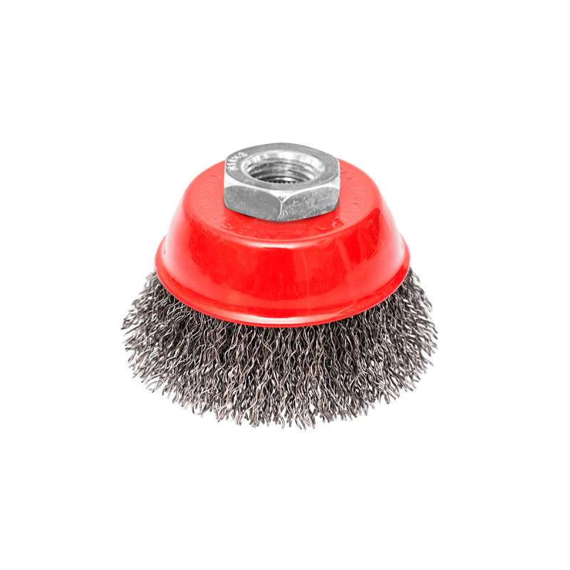 Circular cup brush, steel wire ø65mm, for angle grinder