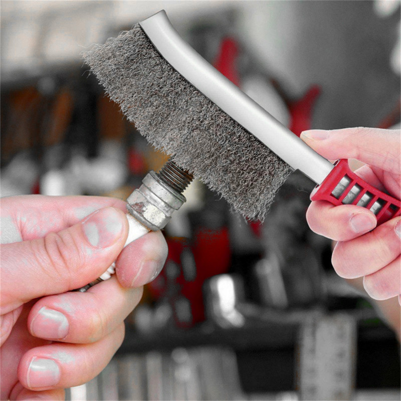 Steel coated hand brush