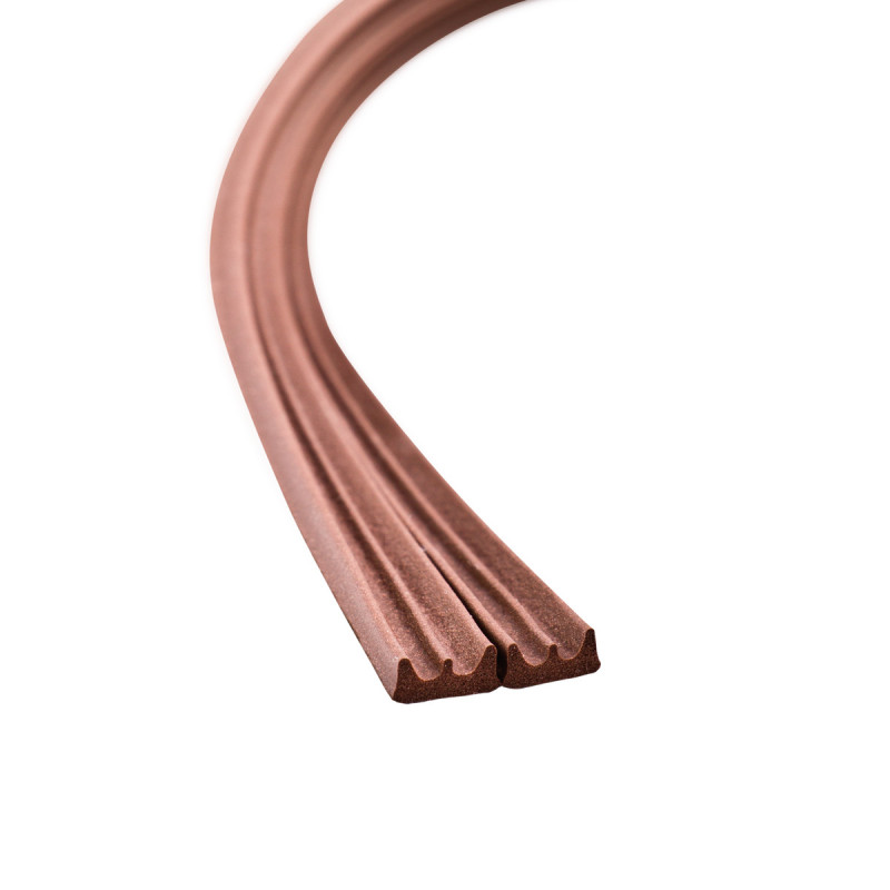Seal strip E-profile, brown 2x50m
