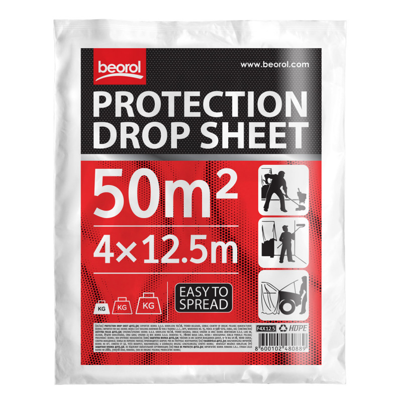 Drop sheet 4x12.5m (13.1x41 ft)