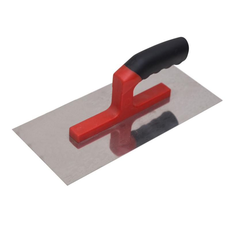Plastering trowel, rubber-plastic handle 280x130mm