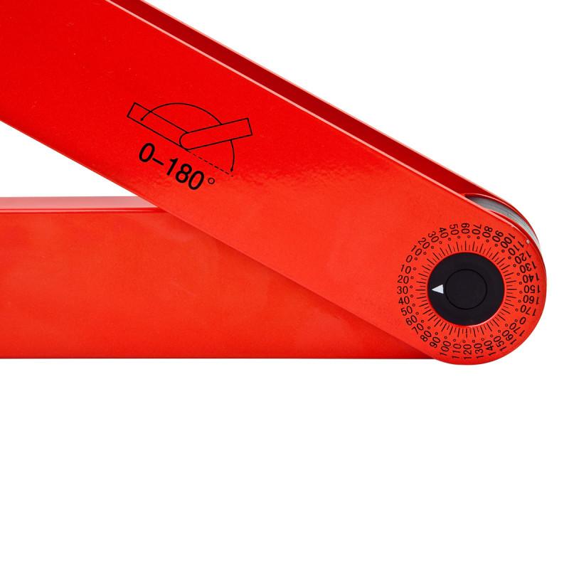 Tape angle measuring spirit level 180˚