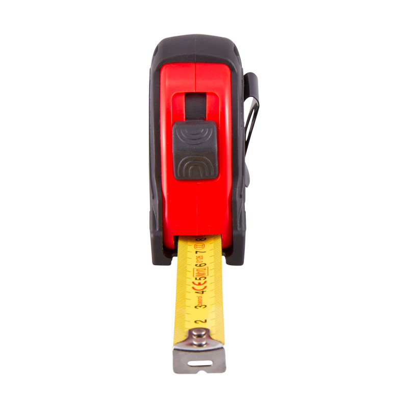 Steel measuring tape 10ft/ 3m,red body/black cover