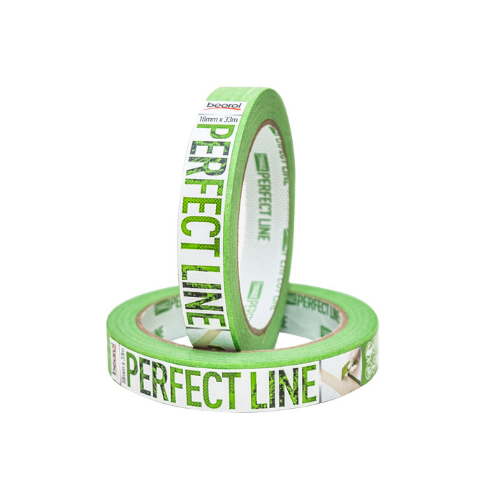 Masking tape Perfect Line 18mm x 33m, 80ᵒC