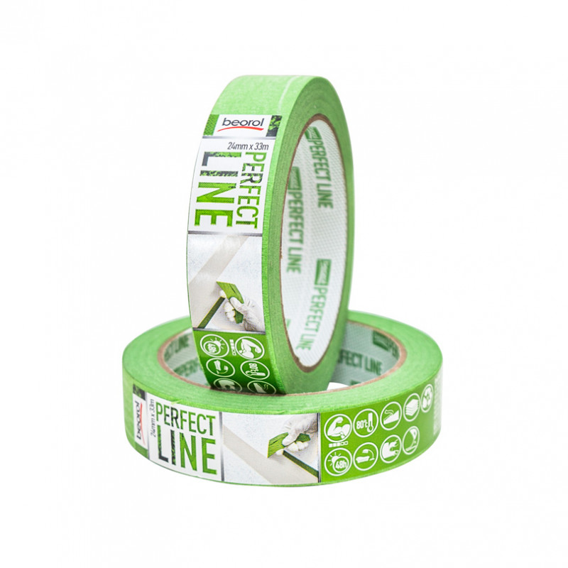 Masking tape Perfect Line 24mm x 33m, 80ᵒC