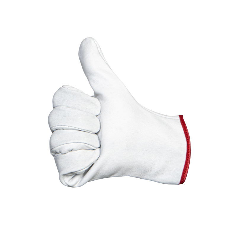 Household glove with flock lining premium