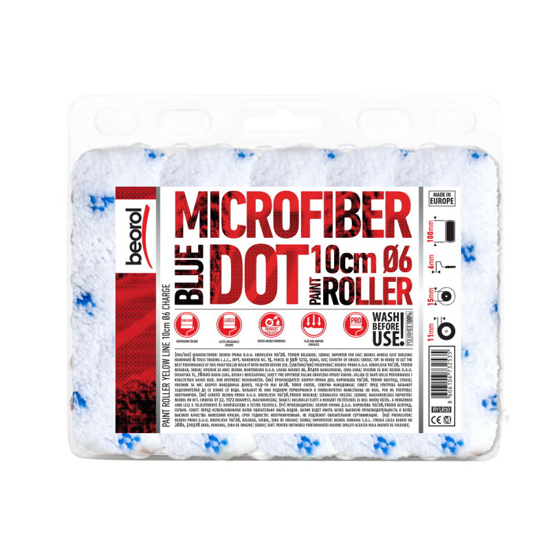 Radiator paint roller Microfiber Blue Dot 10cm charge